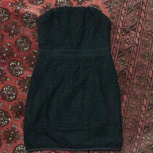 UO Black strapless dress